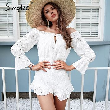 Simplee Lace Back Romper