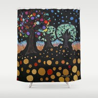 :: Night Forest :: Shower Curtain by :: GaleStorm Artworks ::