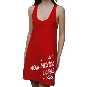 New Mexico Lobos Ladies Paint Strokes Junior's Racerback Dress - Red