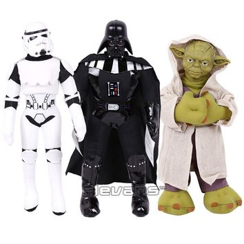 Star Wars Stormtrooper Darth Vader Yoda Plush Toys Soft Stuffed Dolls Christmas Birthday Gift 34~42cm
