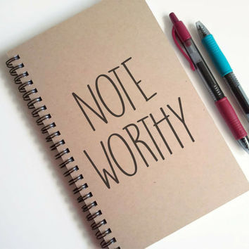 Writing journal, spiral notebook, cute diary, small sketchbook, scrapbook, memory book, 5x8 journal - Noteworthy