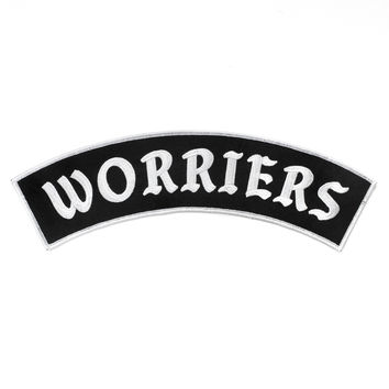 Worriers Back Patch - Black/White