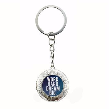 Motivational Keychain with Locket - 5 Designs