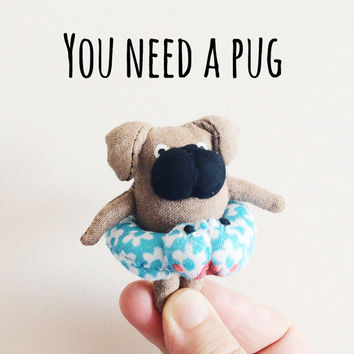 Miniature Dog Doll - Kawaii Dog Toy - Pug Doll - Plush Dogs
