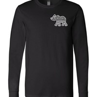 Official NCAA Venley University of Alabama Crimson Tide UA ROLL TIDE! Elephant Roll Tide Long Sleeve T-Shirt - 62AL-9