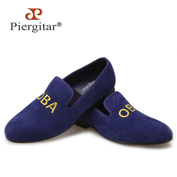 New customize embroidery men party loafers Fashion prom and Banquet men dress shoes style smoking slippers