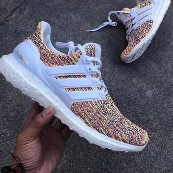 Adidas Ultra Boost Women MEN Running Breathable Sneakers White  6c78a5e3df0d
