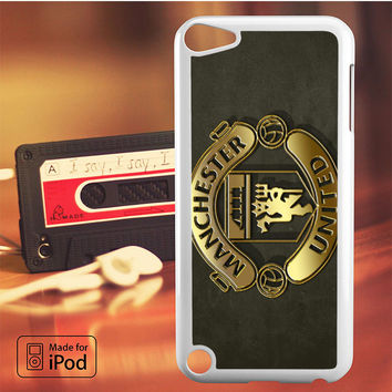 Gold Football Manchester United Logo iPod Touch 4 5 6 Case Cover