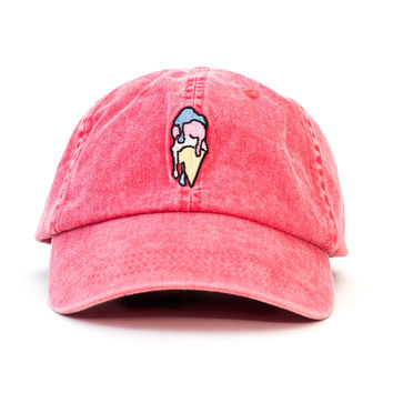 Ice Cream Outdoors Cap (Red)