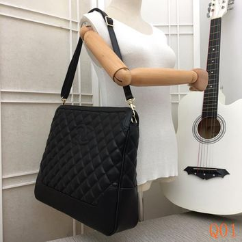 HCXX 19Aug 094 8813 Fashion Embossing Tote Bag Shoulder Strap Shopper 39-33-9cm Black