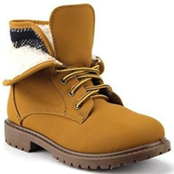 Kids BWY-03 Fleece Lined Fold Down Collar Desert Chukka Boots