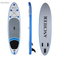 ISUP Inflatable Stand Up Paddle Board with Adjustable Paddle and Backpack 10ft. Great Price!