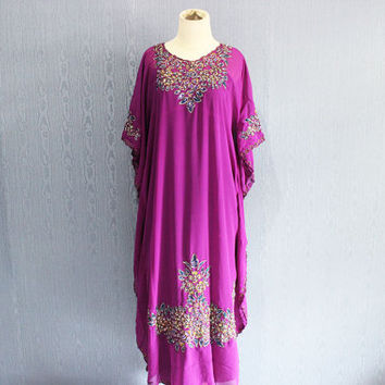 Dubai Abaya Boho Sequin Caftan Maxi Dress Moroccan Evening Wear Maxi Gold Embroidery Dress Purple Maternity Dress