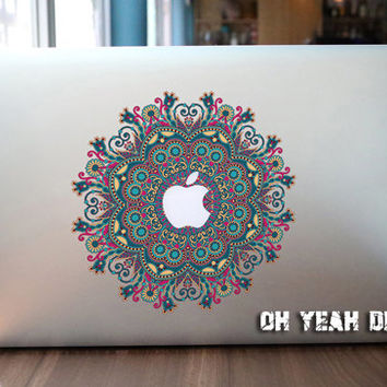 flowerl macbook decal/Decal for Macbook Pro, Air or Ipad/Stickers/Macbook Decals/Apple Decal for Macbook Pro / Macbook Air/laptop 13137