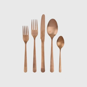 Oslo Cutlery Set - Matte Copper