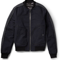 Rag & bone - Shibuya Panelled Textured-Cotton Bomber Jacket | MR PORTER