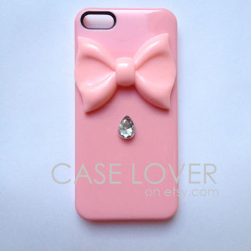 Light Pink Jeweled Couture iPhone 5 iPhone 4 4S Case
