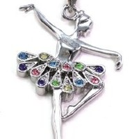 SoulBreezeCollection Dancing Ballerina Dancer Ballet Dance Pendant Necklace Charm Fashion Jewelry