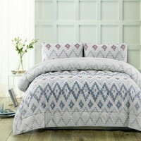3 Piece Tribal Blue Comforter Set by Accessorize