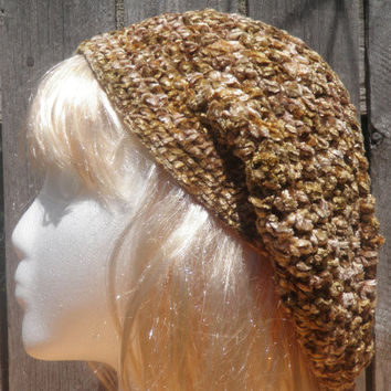 Grasping at straws one of a kind slouchy chenille beret