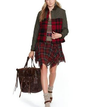 Polo Ralph Lauren Plaid Mixed-Media Jacket