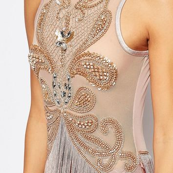 A Star Is Born Embellished Fringe Body