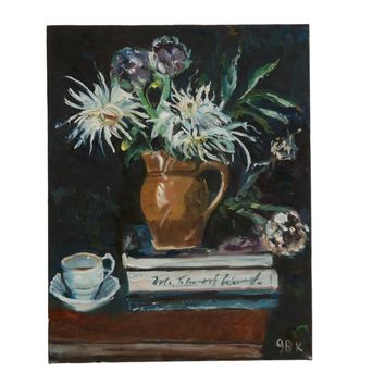"Grace B. Keogh ""Still Life with Flowers"" Painting"