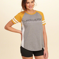 Girls Colorblock Logo Graphic Tee | Girls Tops | HollisterCo.com