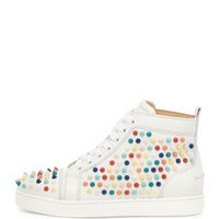 Louis Spikes Calfskin High-Top Sneaker