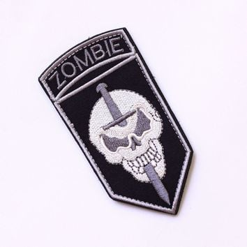 "TSNK Military Enthusiasts Embroidery Patch Army Tactical Boost Morale Badge""zombie"" Armlet"