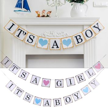 Baby Shower It's A Boy/ Girl Banner