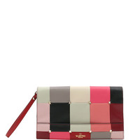Valentino Garavani PuzzleStud Quilted Leather Clutch Bag