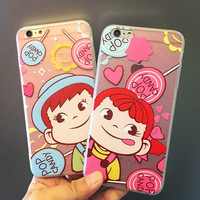 Hot Deal Cute On Sale Stylish Hot Sale Iphone 6/6s Apple Silicone Cartoons Couple Phone Case [6034144385]