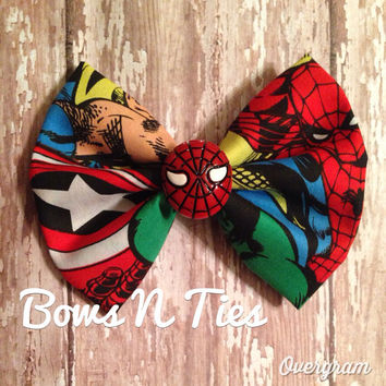Amazing Superhero hipster geek hair bow