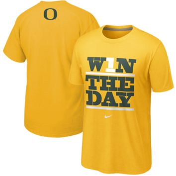 Nike Oregon Ducks Win The Day My School T-Shirt - Yellow
