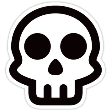 Black and white skull logo by Mhea