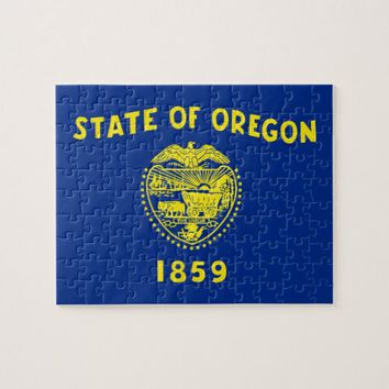 Puzzle with Flag of Oregon State