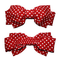 Red Polka Dot Bow Bandeau