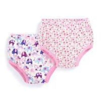 JoJo Maman Bebe 2 Pk Printed Girls' Training Knickers