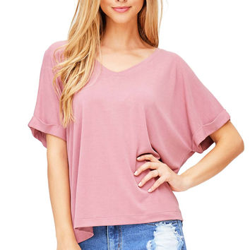 Hush Oversized V-Neck Tee