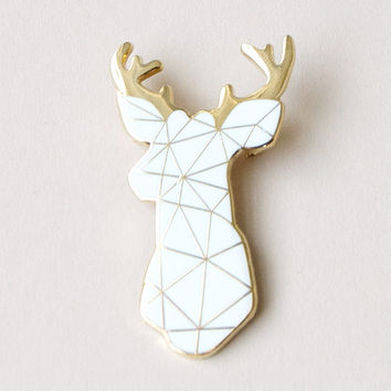 White Stag Brooch By Sketch Inc