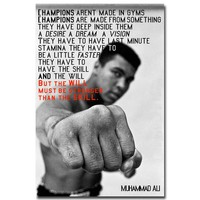 Be Stronger - MUHAMMAD ALI Motivational Quote Art Silk Poster Print  Inspirational Picture for Wall Decor home boxing
