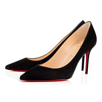 Decollete 554 85 veau velours 85 BLACK - Women Shoes - Christian Louboutin