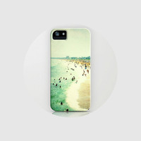 iPhone 5 case, iPhone 5 hard case, beach iPhone case - Old Orchard Beach (At the Seashore) iPhone 5 case