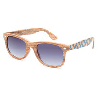 Blue Crown Wood Wayfarer Sunglasses Wood One Size For Men 26452846101