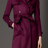 Long Double Cashmere Trench Coat