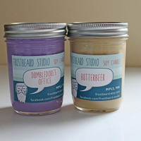 Harry Potter Candles - Dumbledore's Office & Butterbeer (2 pack) Soy Wax 8oz jars
