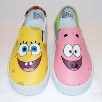 Hand Painted Spongebob & Patrick Shoes