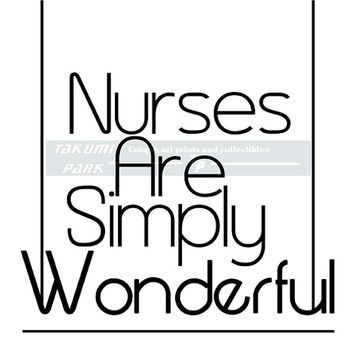Nurse Quote Print, Quote Poster Wall Art, Nurse Gift, Black And White Art, Home Decor, RN Graduation Gift, Typographic, Nursing Student