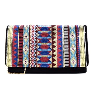 Courtney Aztec Clutch